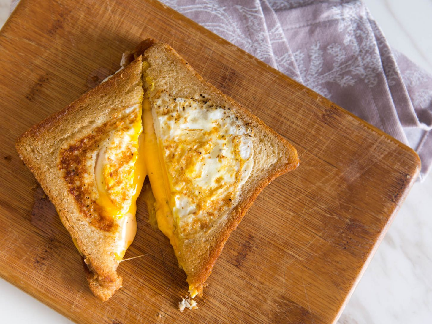 Egg-in-a-Hole Grilled Cheese Sandwich Recipe - Recipe Egg Bread