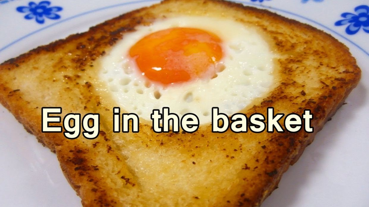 EGG IN THE BASKET - Tasty and easy food recipes for beginners to make at  home - Cooking videos - Simple Recipes For Beginners