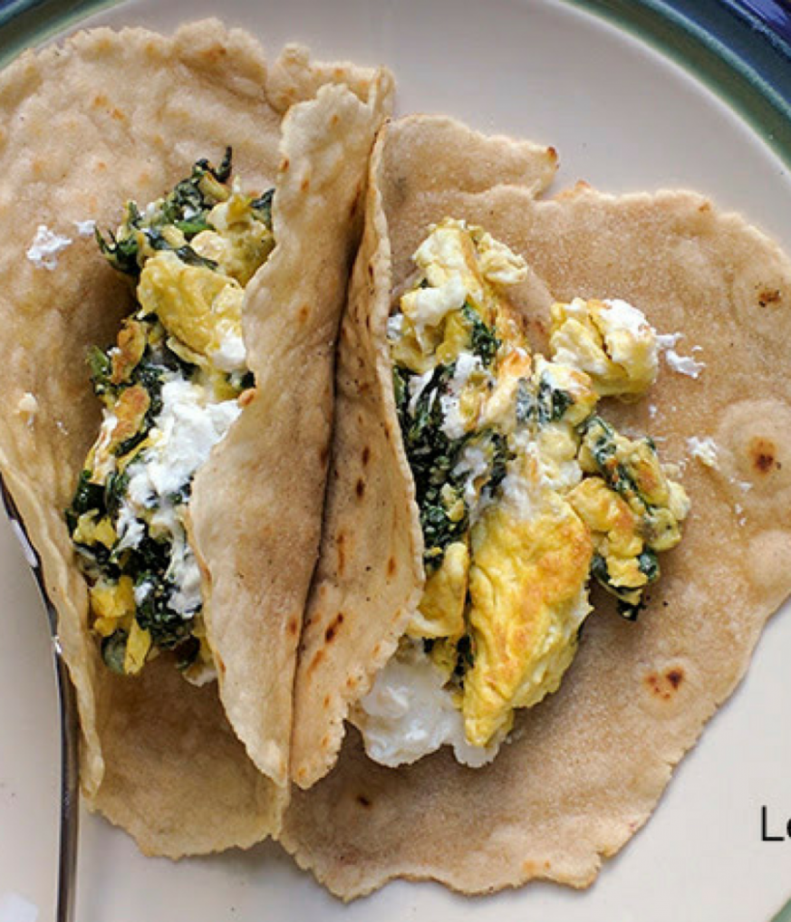 Egg, Spinach, & Goat Cheese Breakfast Burritos | Goat cheese ..