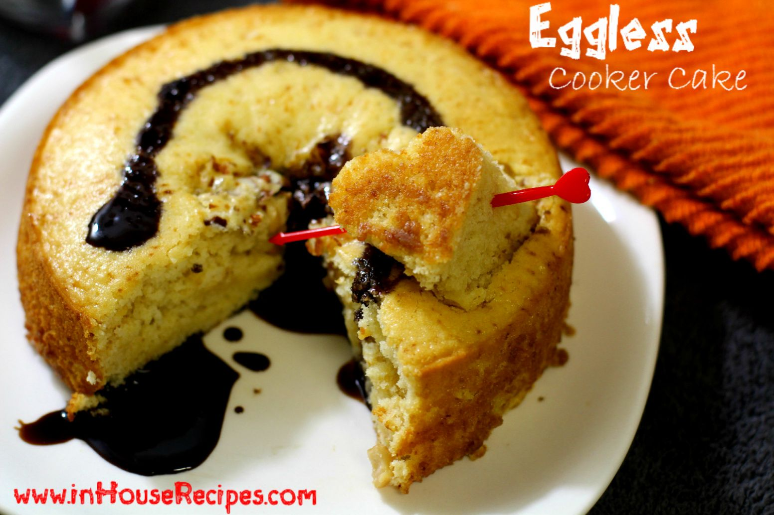 Eggless Cake In Pressure Cooker Recipe - inHouseRecipes - Cake Recipes Cooker