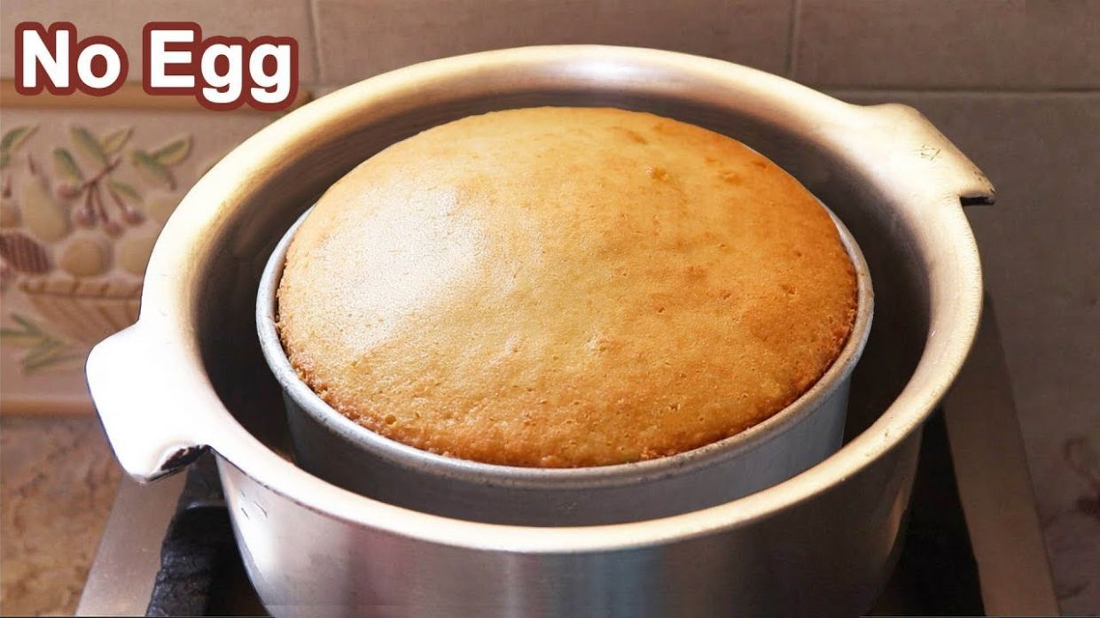 Eggless Tea Cake without Oven - No Oven-No Butter-No Egg Plain Cake Recipe - Recipes Dessert Without Eggs