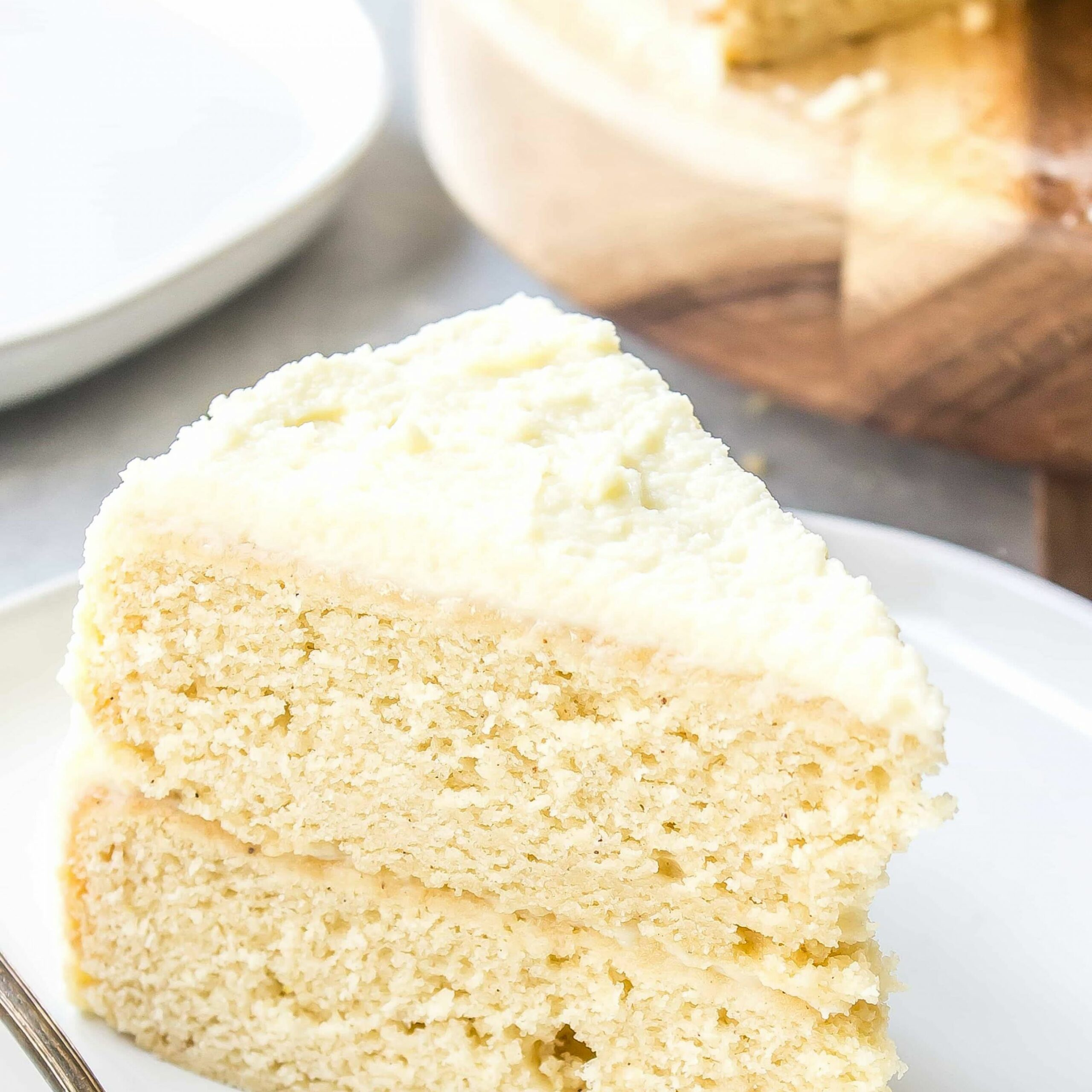 Eggnog Cake with White Chocolate Ganache Whipped Cream Frosting - Cake Recipes Using Xanthan Gum