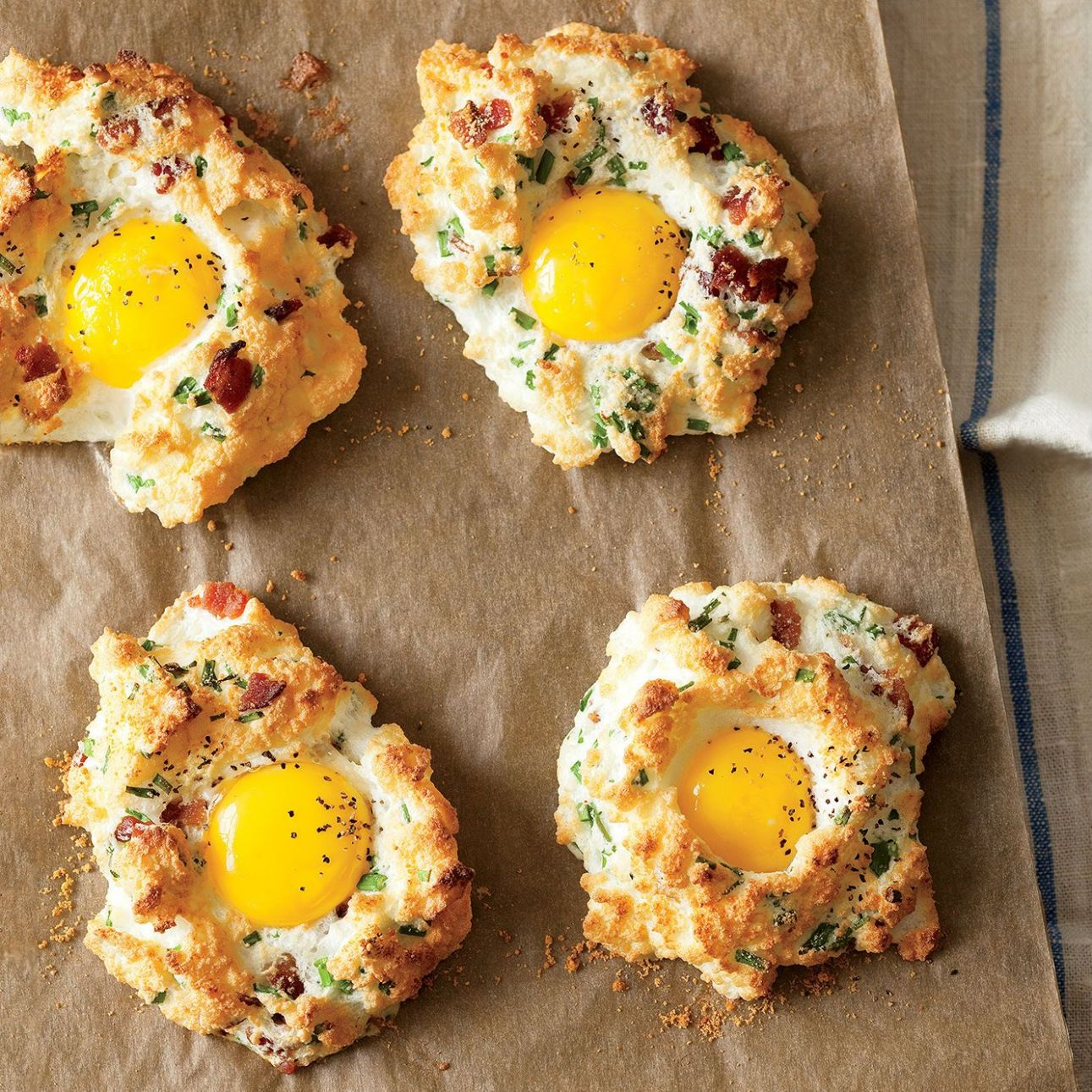 Eggs in Clouds - Egg Recipes Low Carb