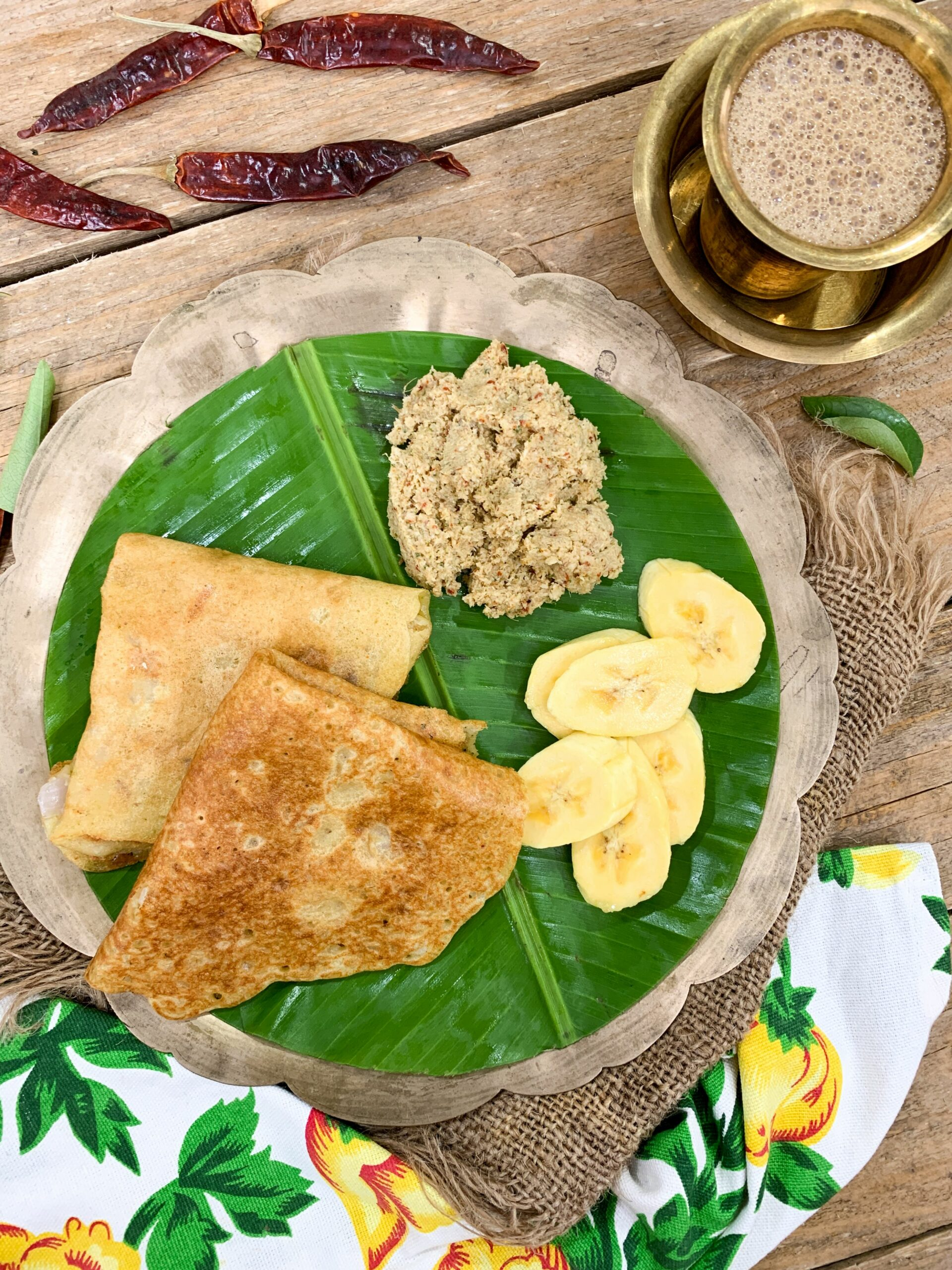 Enjoy A Simple South Indian Breakfast Meal With Adai, Chammanthi ..