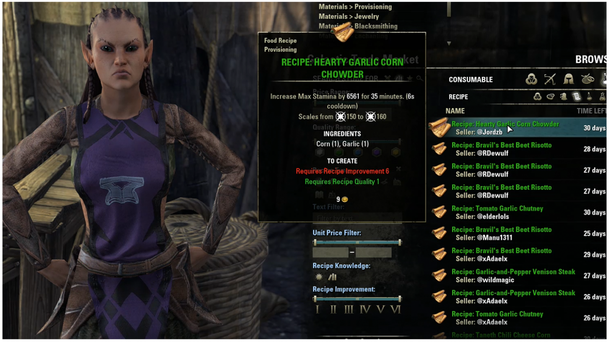 ESO Provisioning Guide: Food, Drinks and Fast Leveling   Fextralife - Food Recipes Eso