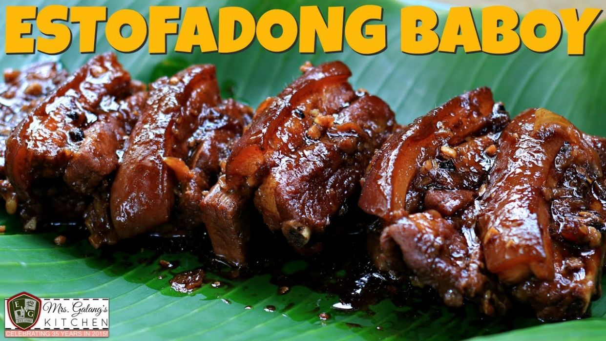ESTOFADONG BABOY or PORK ESTOFADO (Mrs