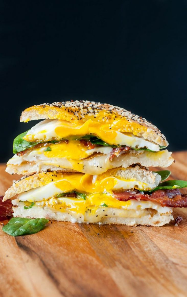 Everything Bagel Grilled Cheese Breakfast Sandwich - Sandwich Recipe Notes