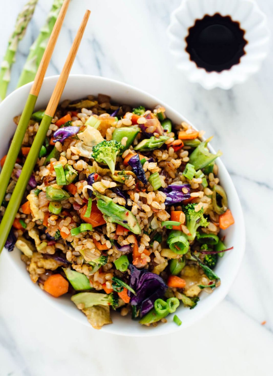 Extra Vegetable Fried Rice - Recipe Vegetarian Fried Rice