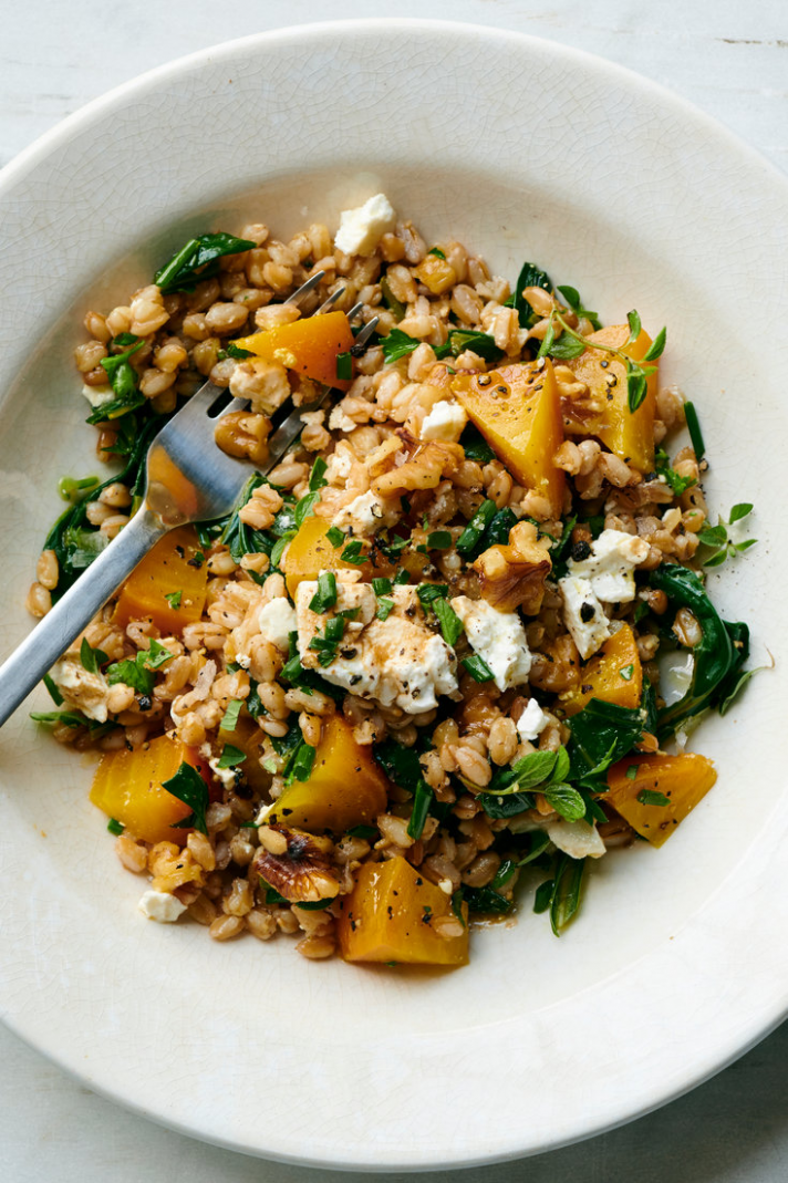 Farro Salad With Beets, Greens and Feta | Recipe | Feta recipes ..