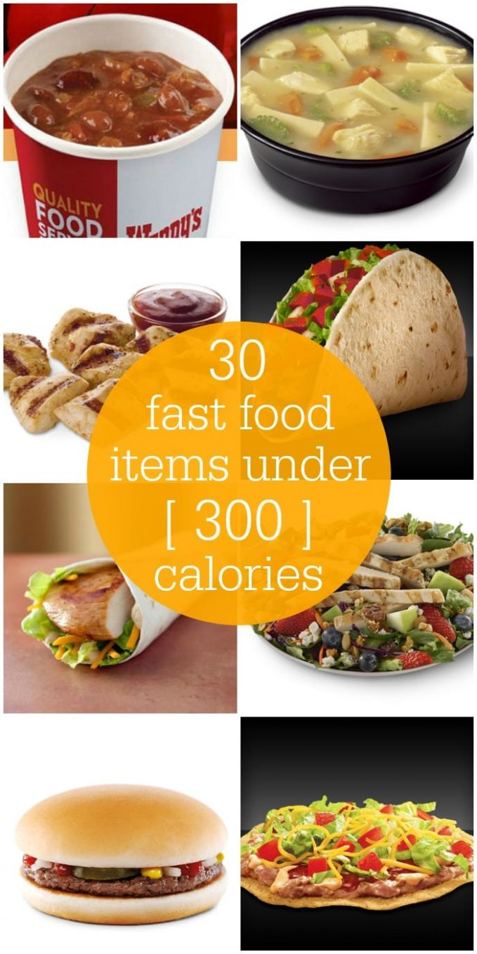 Fast Food Menu Items under 12 Calories - Food Recipes Under 300 Calories