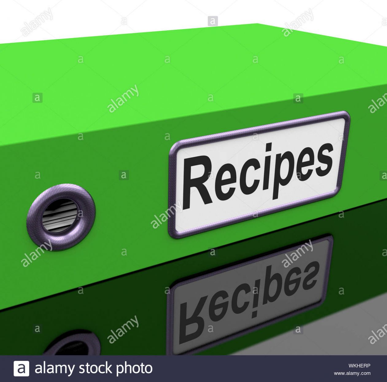 File Recipes Meaning Food Preparation And Business Stock Photo ..