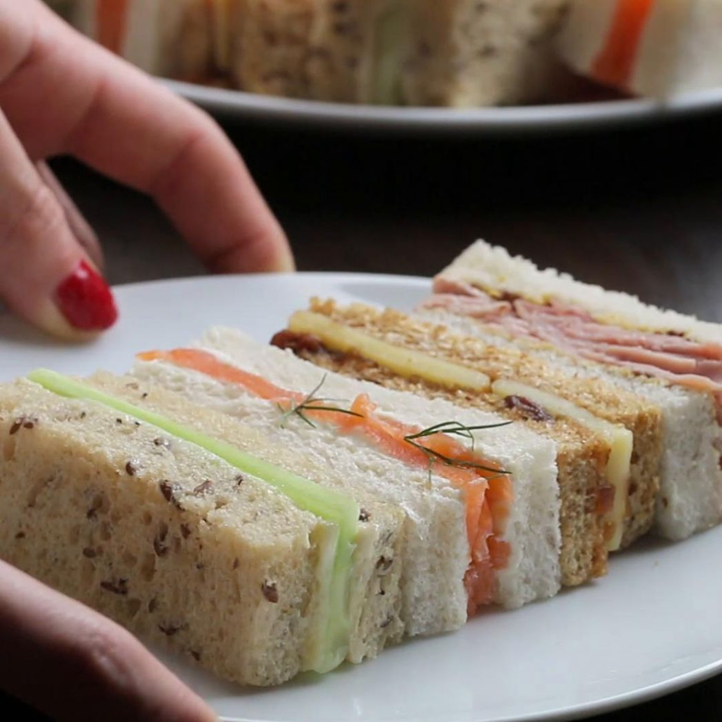 Finger Sandwiches Recipe by Tasty - Recipes Of Sandwich In English