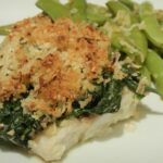 Fish Florentine With Parmesan Crumbs And Sugar Snap Peas | This ..