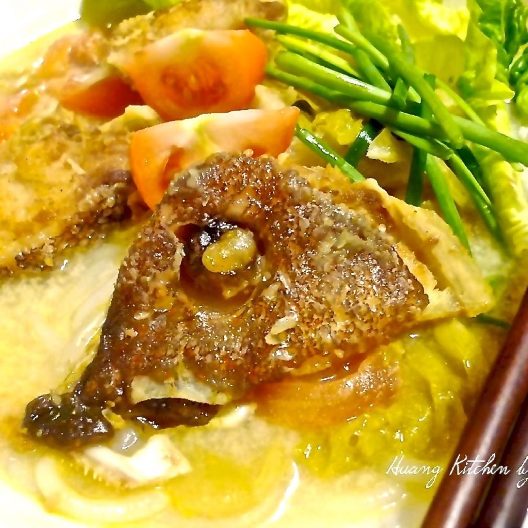 Fish Head Noodle Soup - Recipe Fish Head Noodle