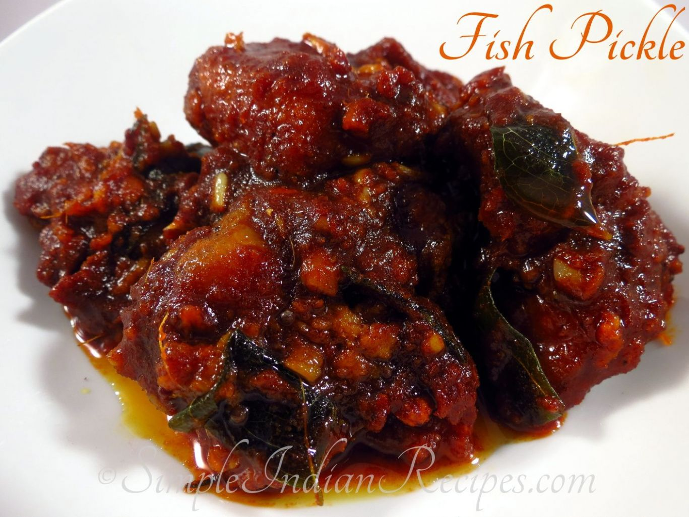 Fish Pickle - Fish Achar - Meen Achar