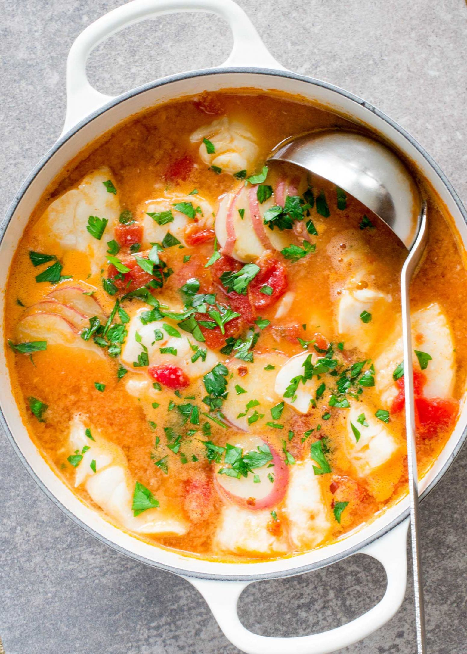 Fish Stew with Ginger and Tomatoes - Soup Recipes Using Fish Stock