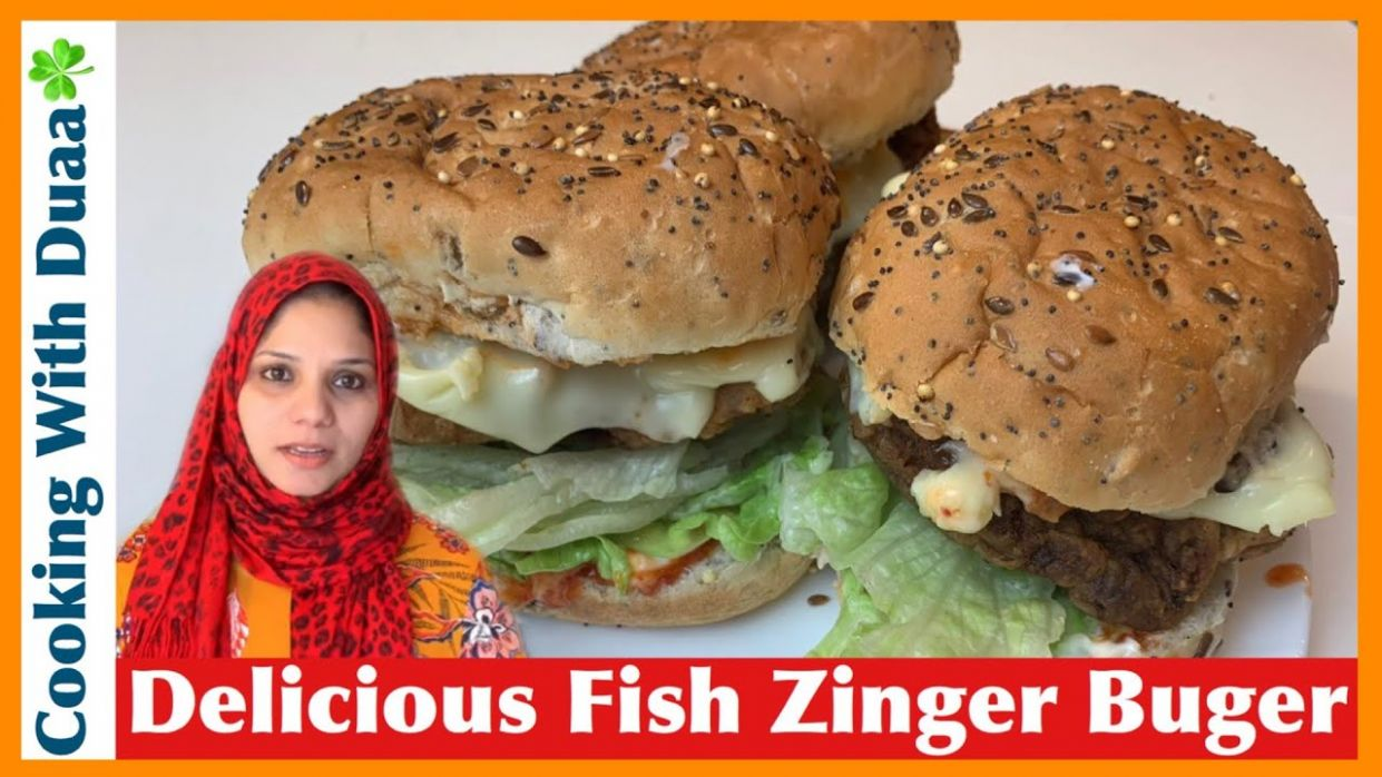 Fish Zinger Burger Recipe l Kids Special Recipe l Cooking With ..