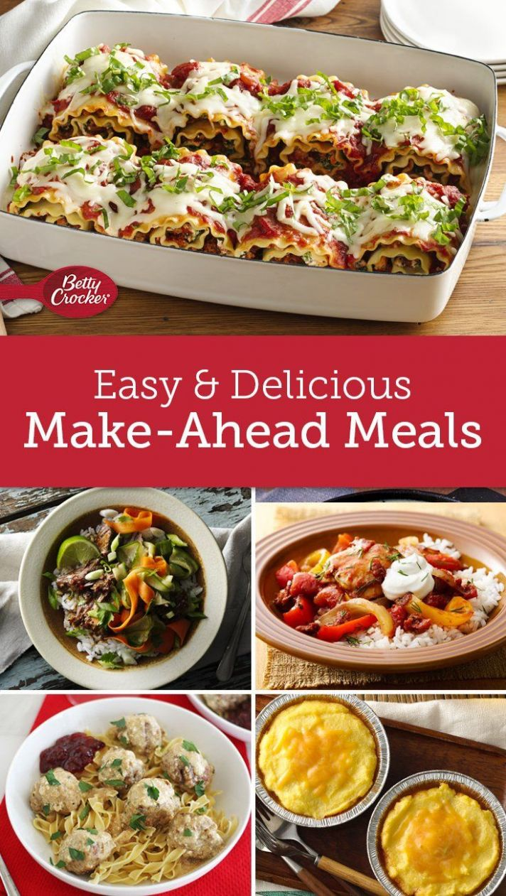 Freezer Meals You Can Make Ahead | Pre cooked meals, Meals, Pre ..