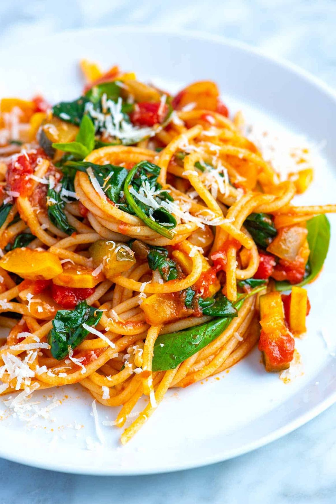 Fresh and Easy Veggie Spaghetti - Pasta Recipes No Meat