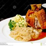 Fried Pork Knuckle In German Style Stock Photo – Image Of Lower ..