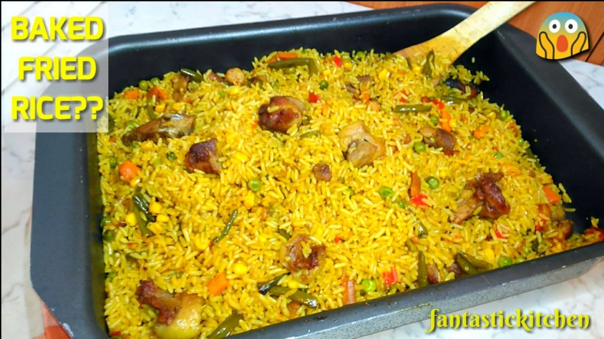 Fried rice baked in the oven! Very fast and easy to put together