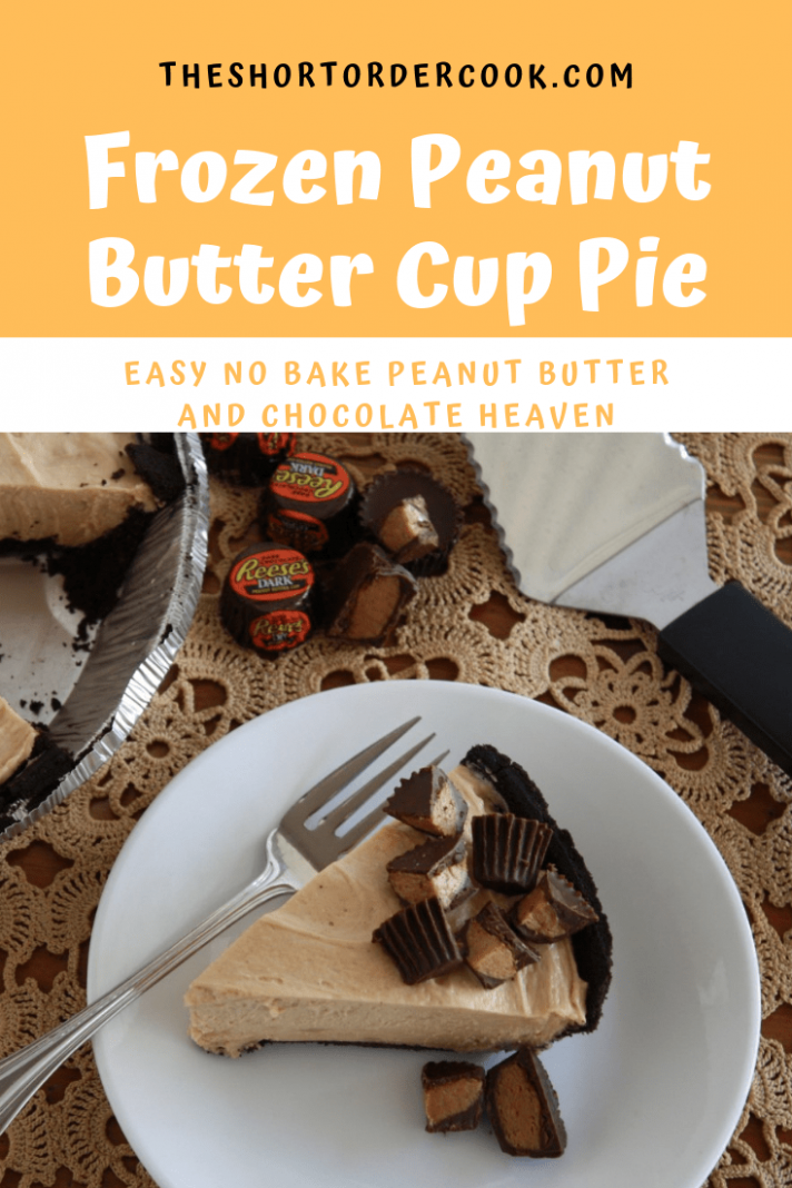 Frozen Peanut Butter Cup Pie - Recipes Desserts Pinterest