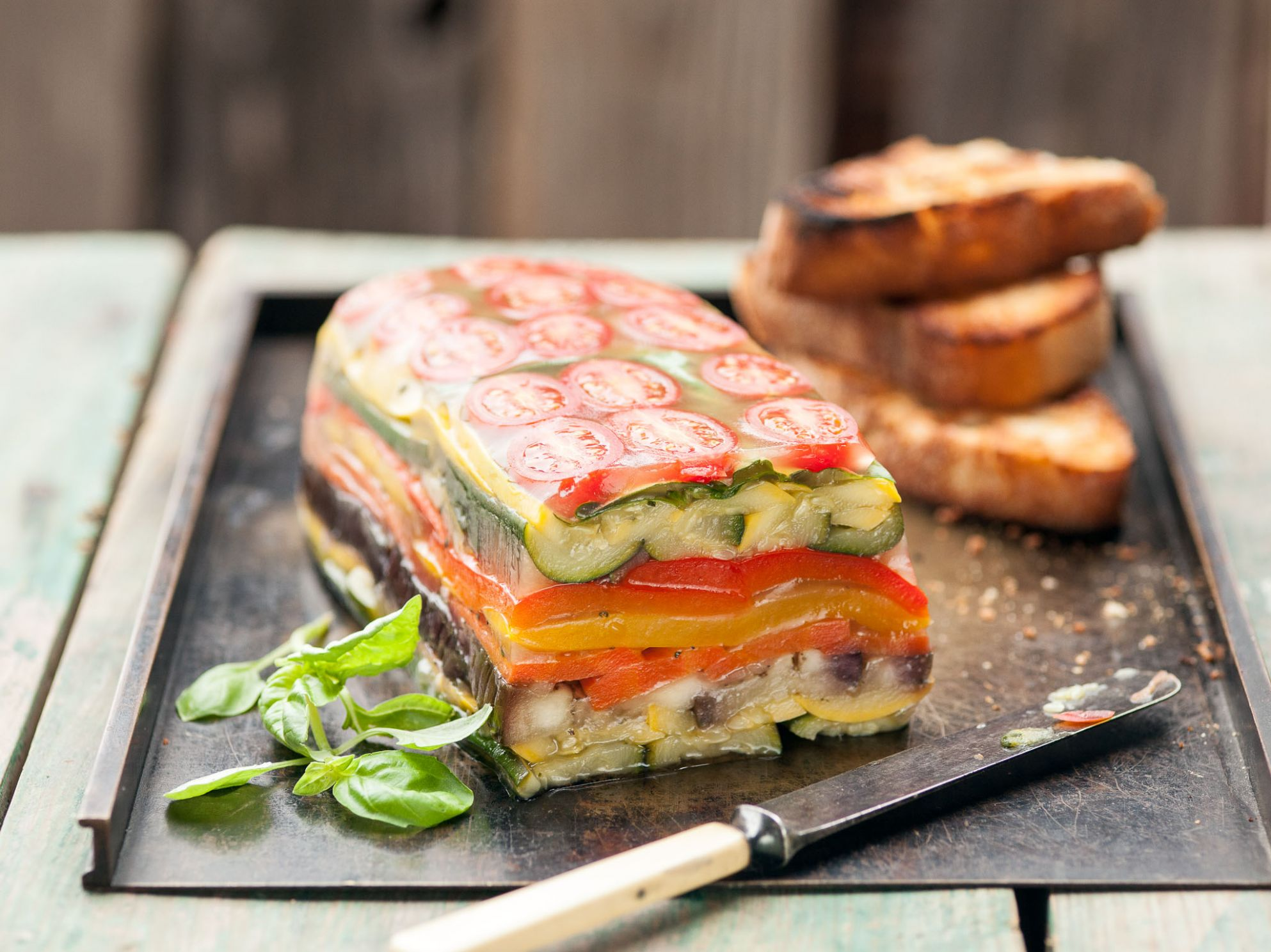 Garden Vegetable Terrine - Recipes Vegetable Terrine