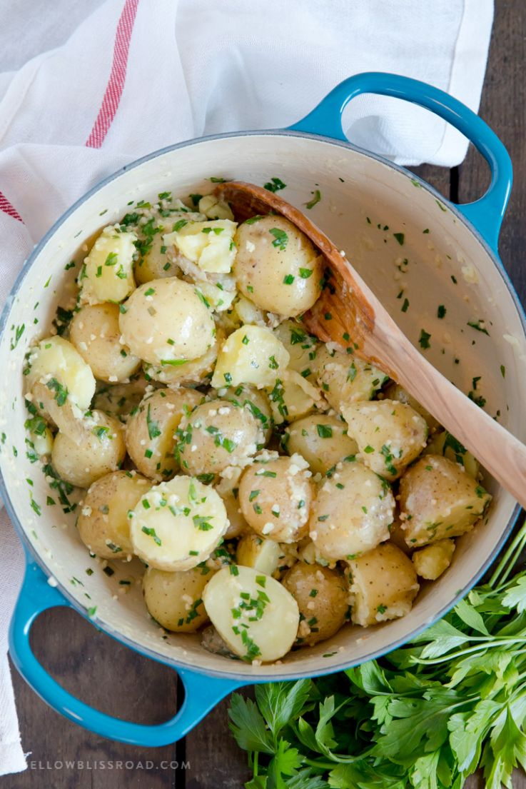 Garlic & Herb Butter Baby Potatoes - Potato Recipes On Stove Top