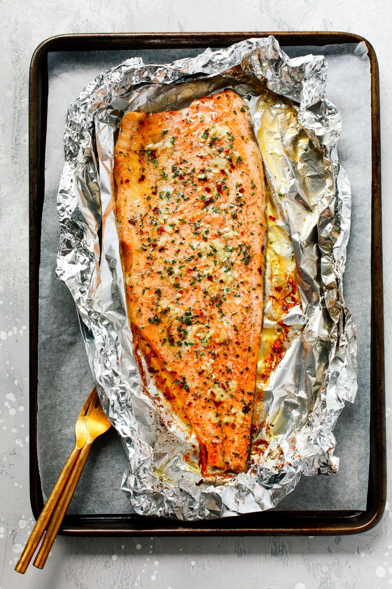 Garlic Butter Rainbow Trout in Foil - Recipe Fish On The Grill In Foil