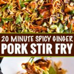 Garlic Ginger Pork Stir Fry – The Chunky Chef – Recipes Pork Fillet Stir Fry
