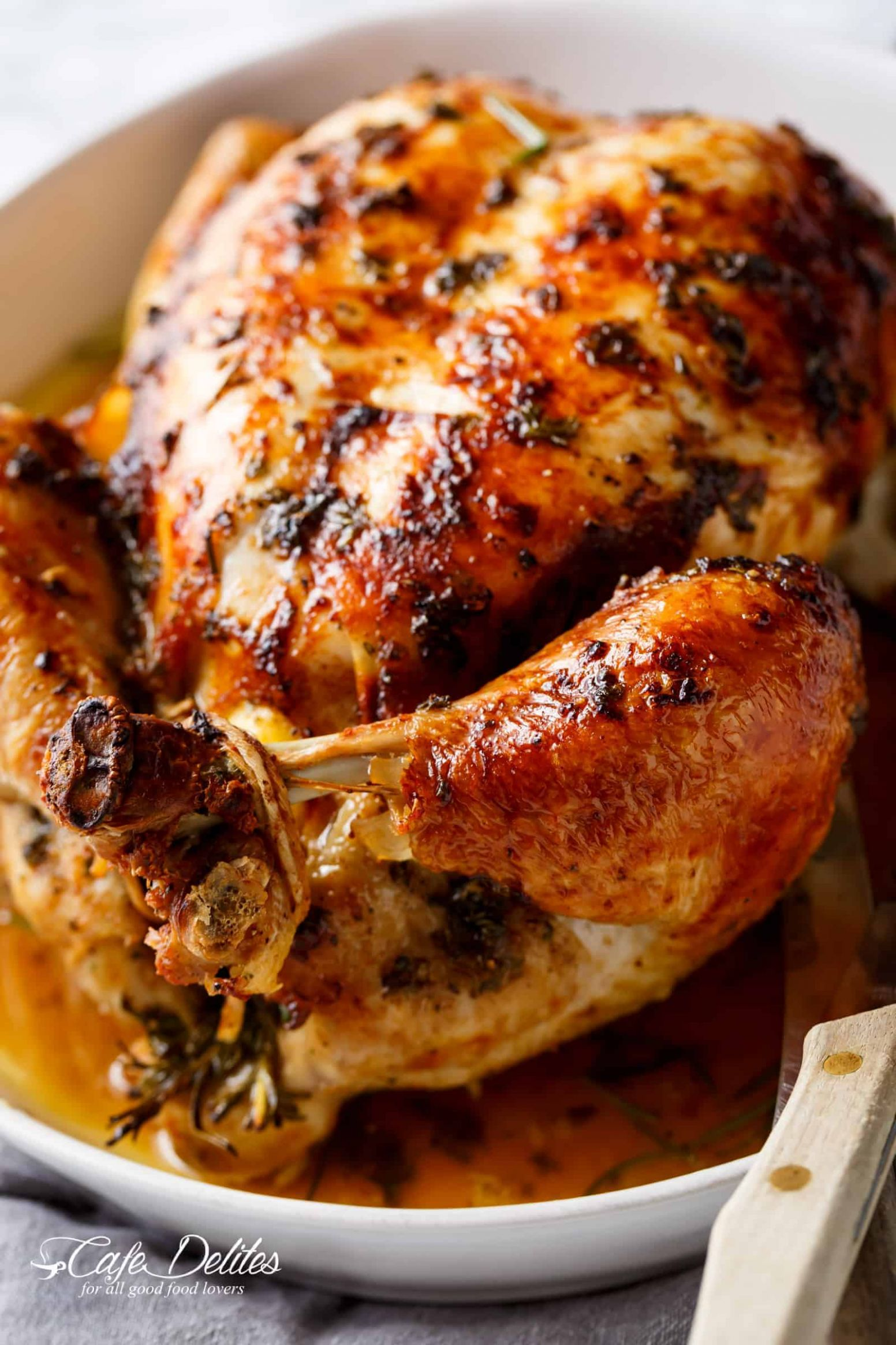Garlic Herb Butter Roast Chicken - Recipes Chicken Roast