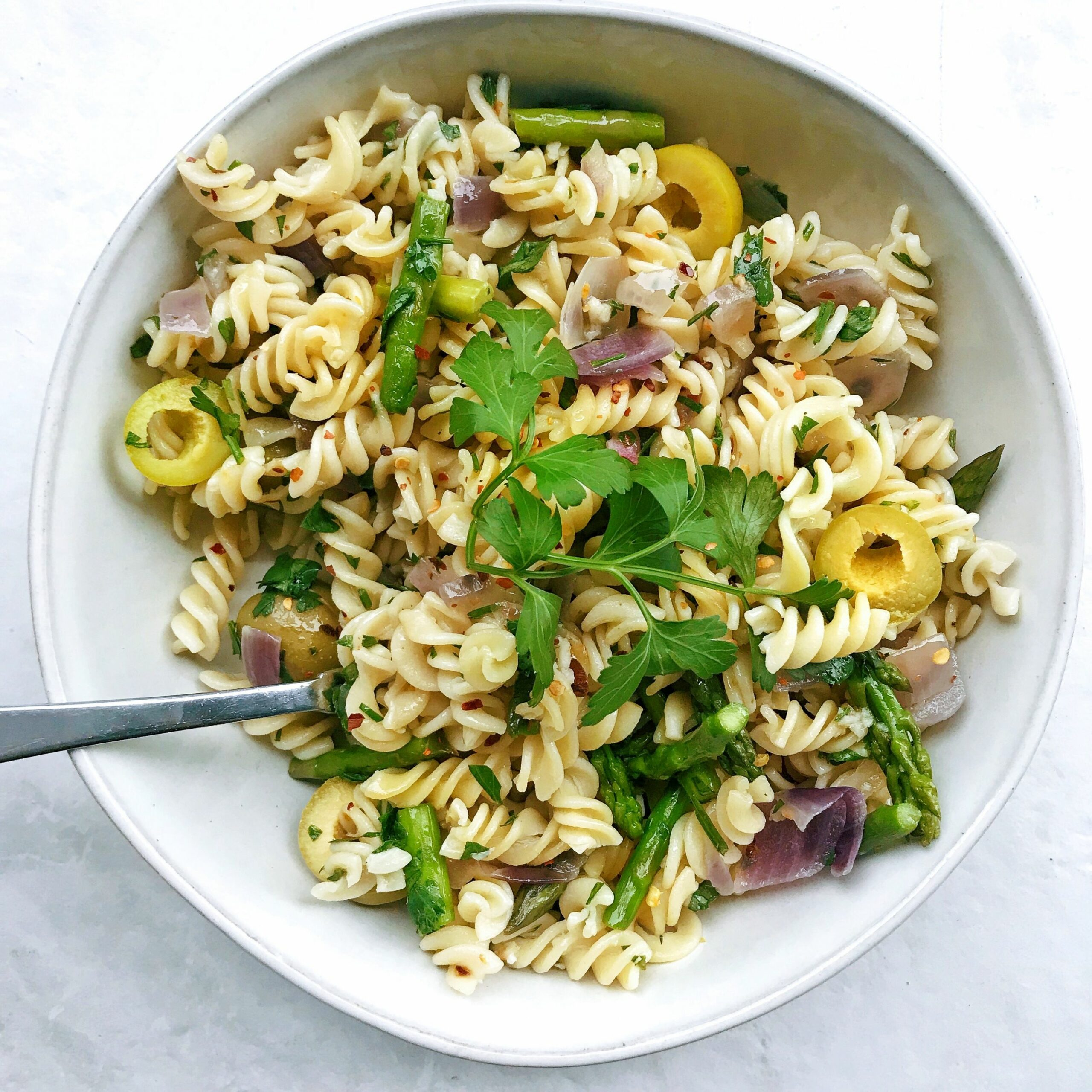 Garlic Olive Oil Quinoa Pasta with Gordal Olives from Spain - Pasta Recipes Olive Oil