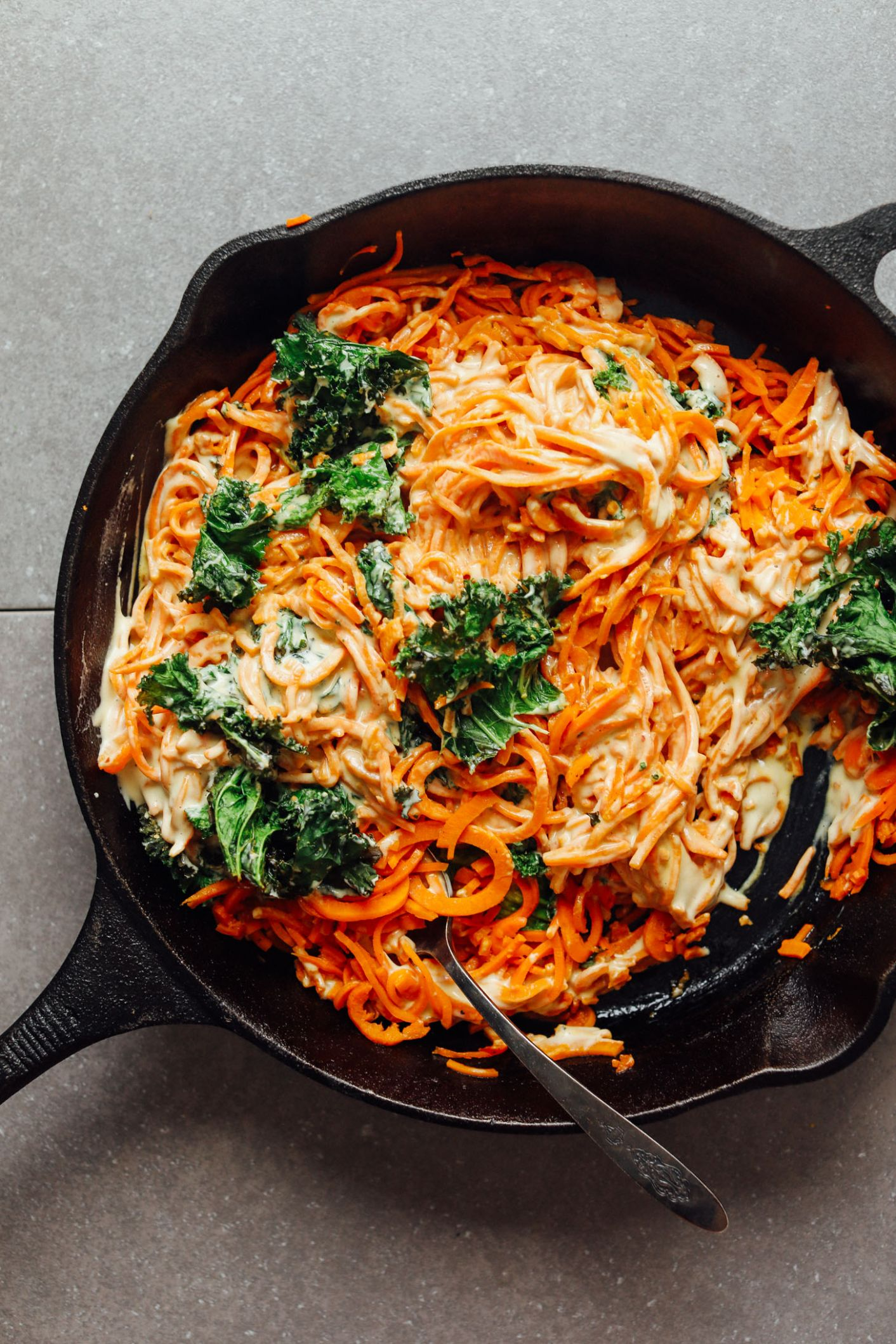 Garlicky Sweet Potato Noodle Pasta (11 Ingredients) - Recipes For Sweet Potato Zoodles