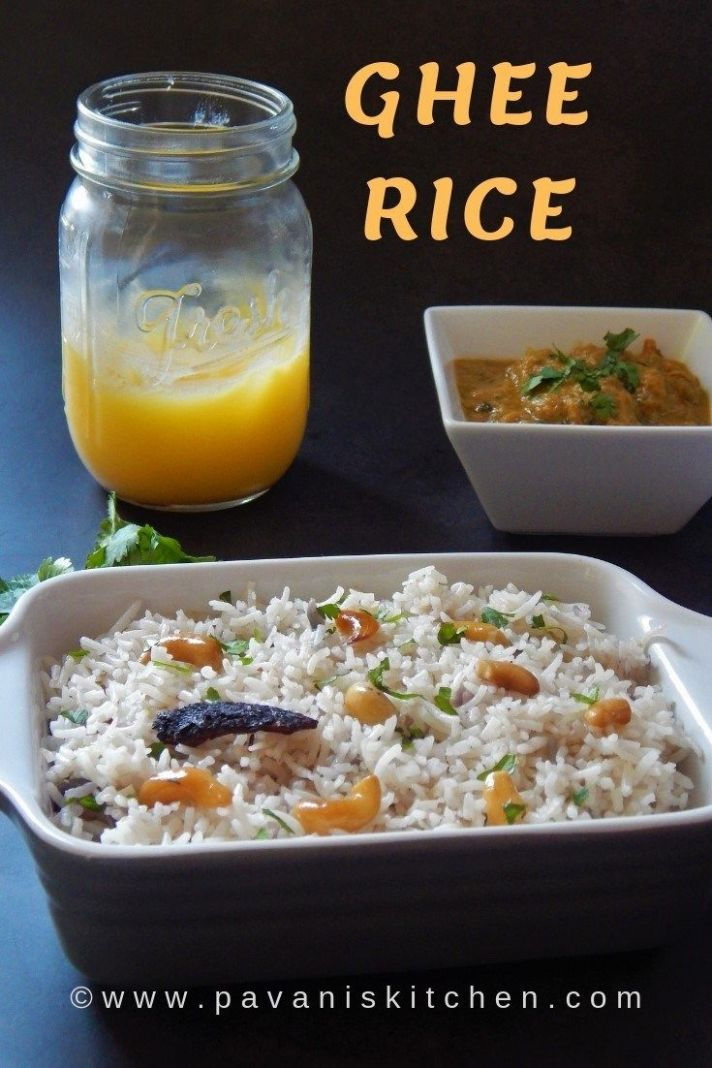 Ghee Rice Recipe | Ney Choru - Rice Recipes Gluten Free