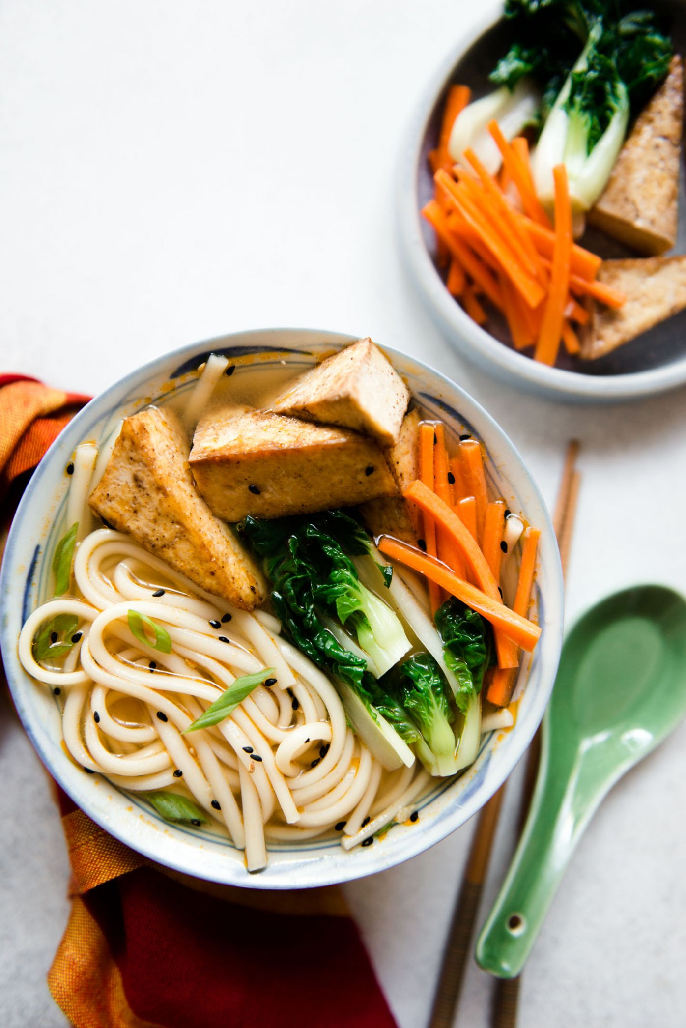 Ginger Miso Udon Noodles with Five-Spice Tofu (Vegan) | Healthy ..