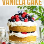 Gluten Free Vegan Vanilla Cake With Summer Berries – The Loopy Whisk – Cake Recipes Gluten And Dairy Free