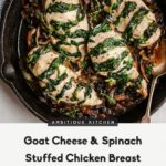 Goat Cheese & Spinach Stuffed Chicken Breast With Caramelized ..