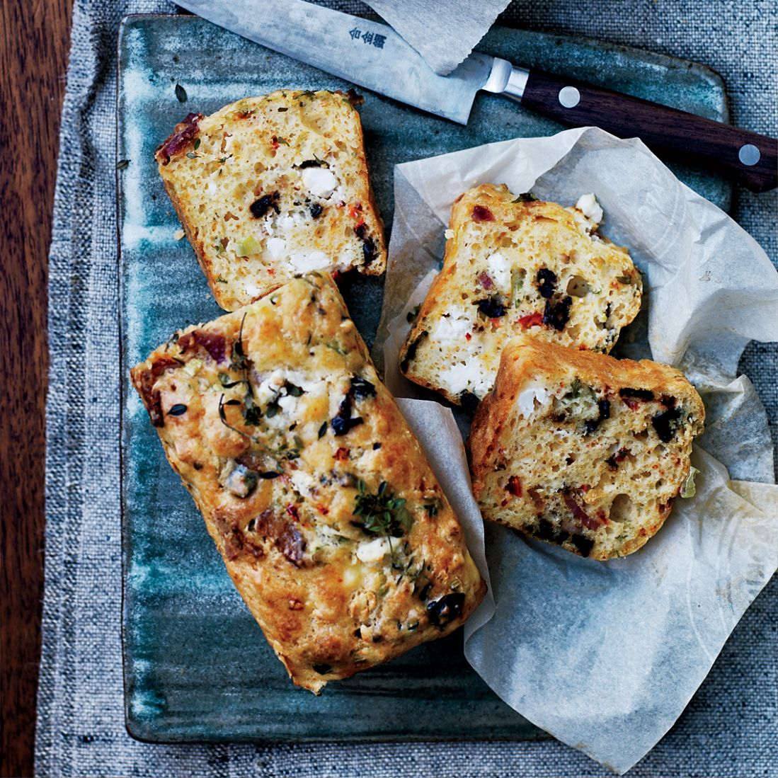 Goat Cheese, Bacon and Olive Quick Bread - Food Recipes Quick Breads