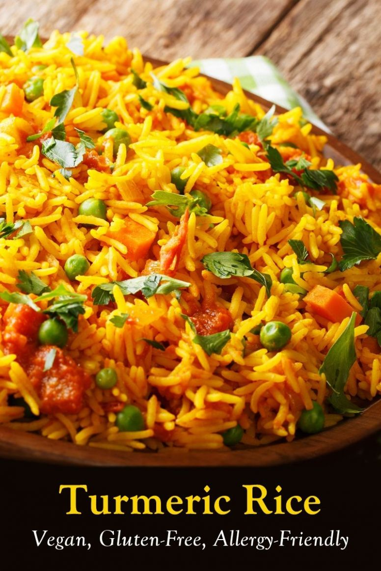 Golden Turmeric Rice - Rice Recipes Gluten Free