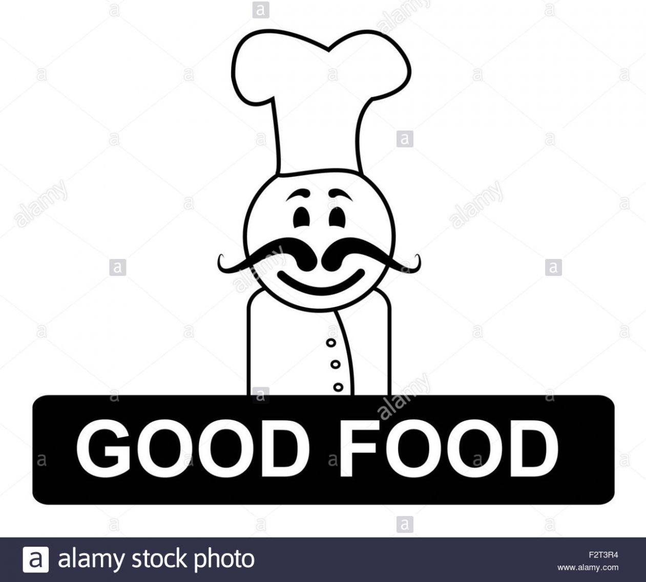 Good Food Chef Meaning Cooking In Kitchen And Recipes Stock Photo ..