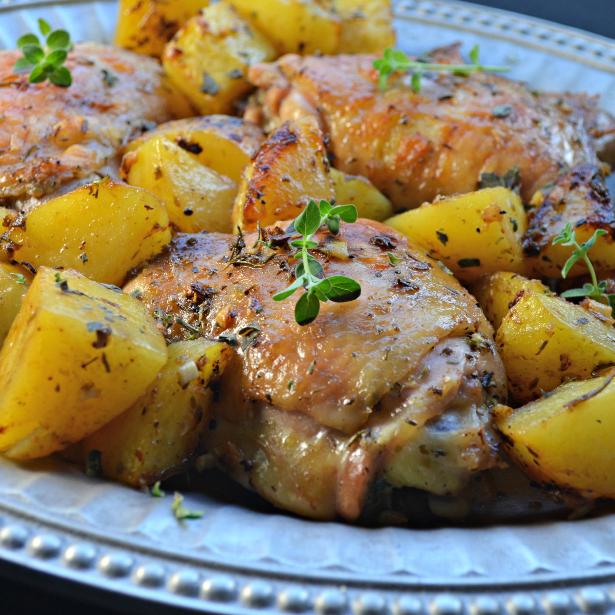 Greek Lemon Chicken and Potatoes - Recipes Potato And Chicken