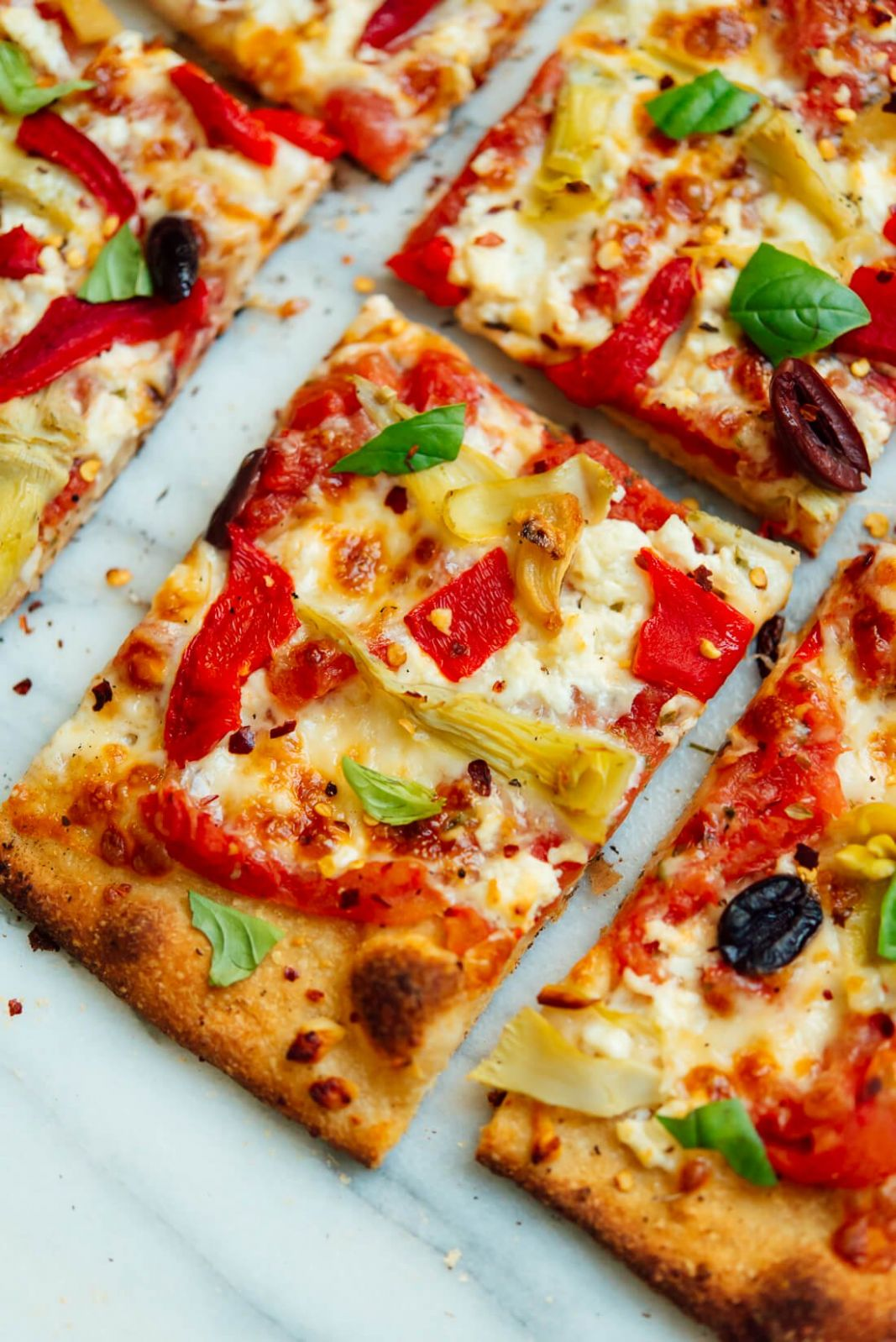 Greek Pizza - Pizza Recipes Toppings Gourmet