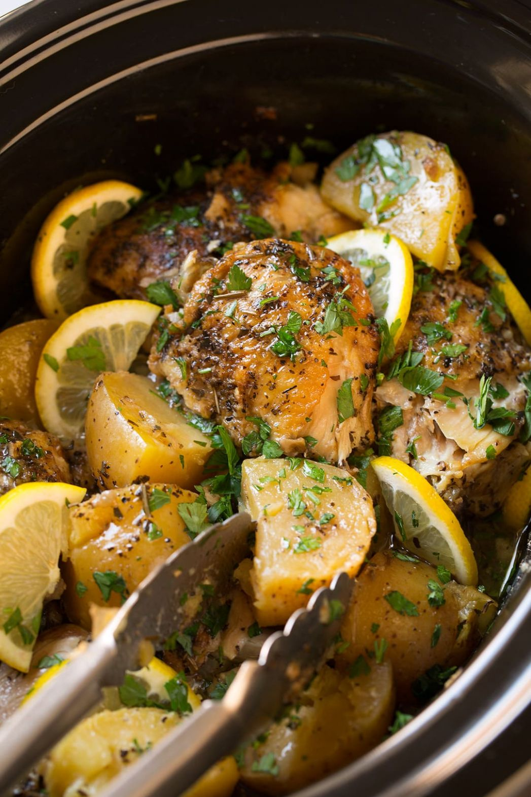 Greek Slow Cooker Lemon Chicken and Potatoes - Slow Cooker Recipes Chicken Breast Uk