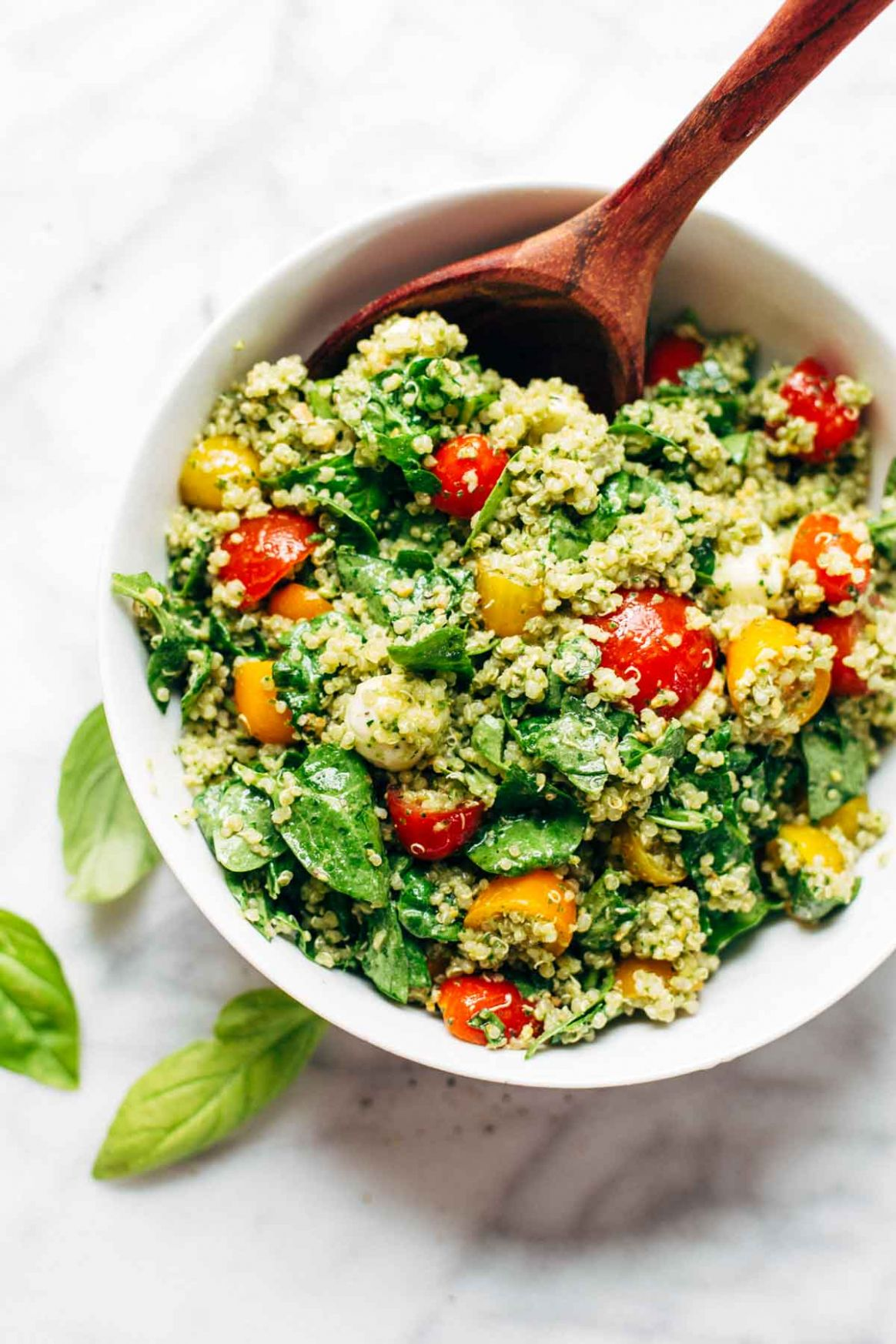 Green Goddess Quinoa Summer Salad Recipe - Pinch of Yum - Recipes Summer Lunch