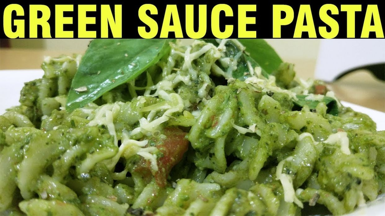 Green Sauce Pasta | Recipe in Hindi | Jain Recipes | Pesto Pasta Recipe |  How to make Pasta at Home - Pasta Recipes Jain