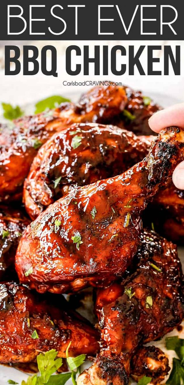 Grilled BBQ Chicken with Homemade BBQ Sauce - Recipes Chicken On The Bbq