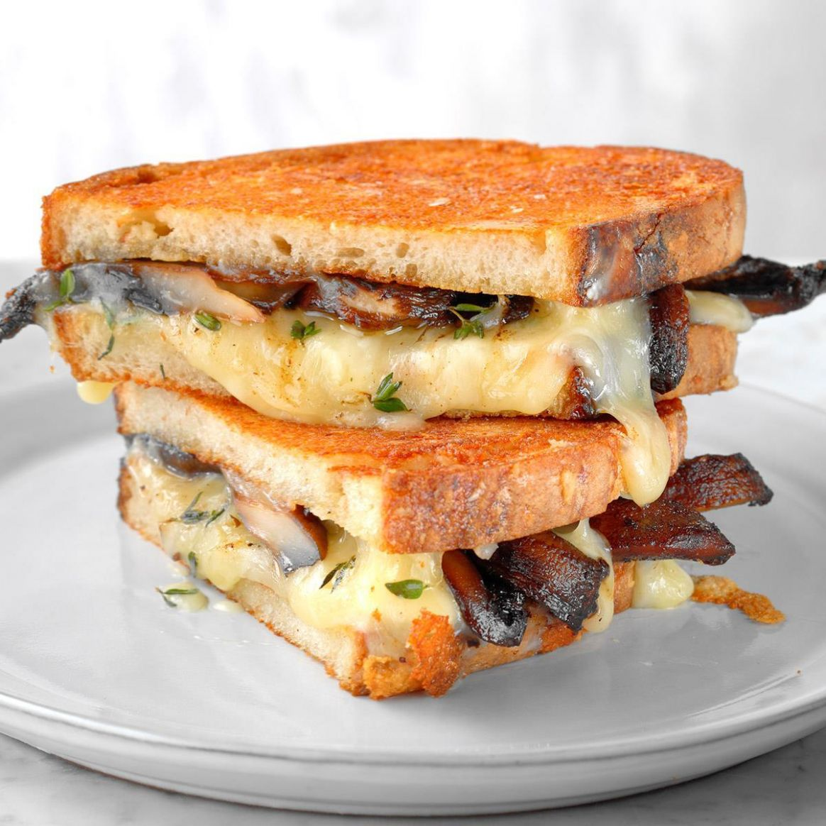 Grilled Cheese and Mushroom Sandwich - Sandwich Recipes To Go
