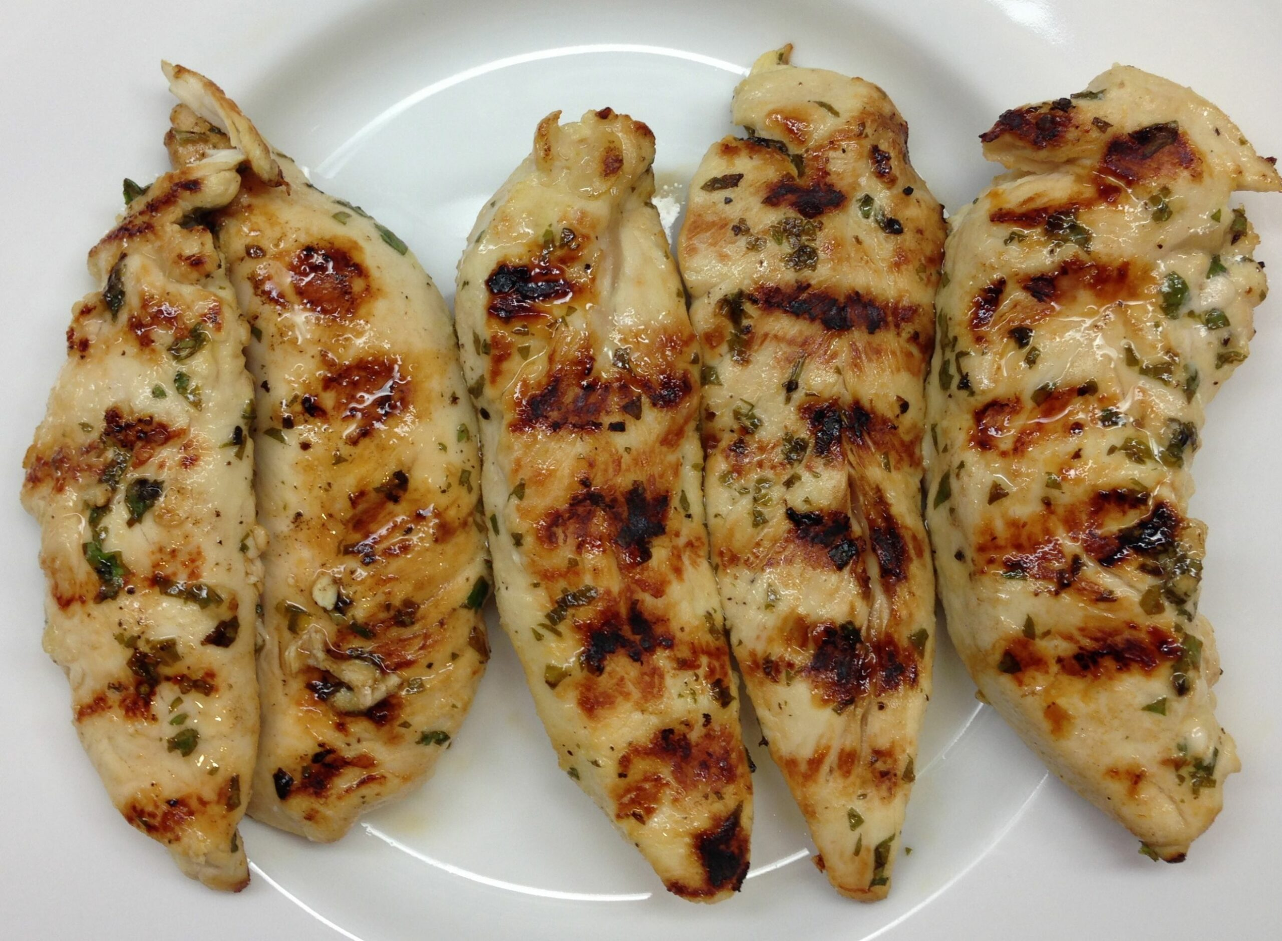 Grilled Chicken Breast Tenderloins with Cilantro and Lime Juice ..