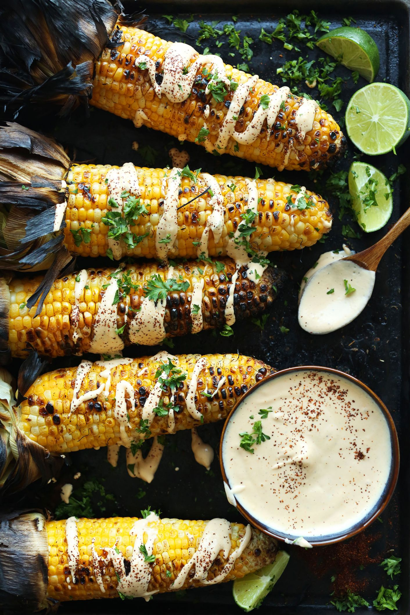 Grilled Corn with Sriracha Aioli - Easy Recipes On The Grill