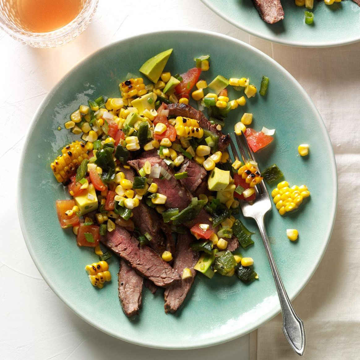 Grilled Flank Steak with Summer Relish - Summer Recipes Meat